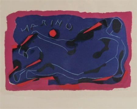 Lithographie Marini - Cavallo