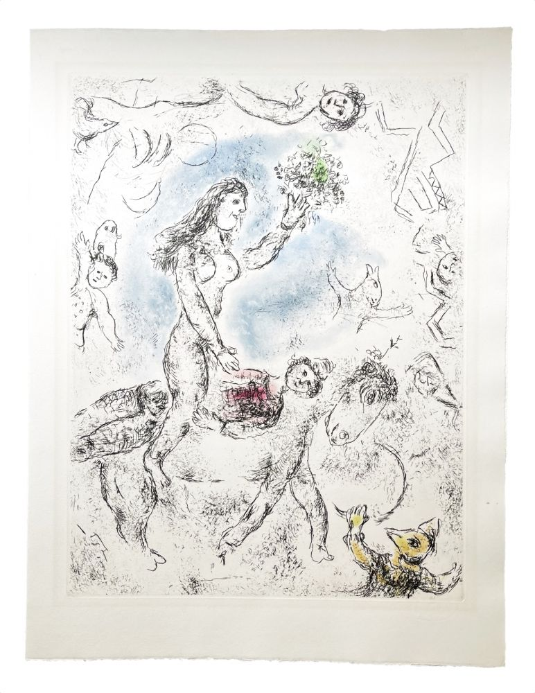 Radierung Und Aquatinta Chagall - Ce lui qui dit les choses sans rien dire (Plate 22)