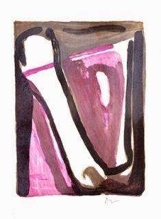 Lithographie Van Velde - Ce qui reste