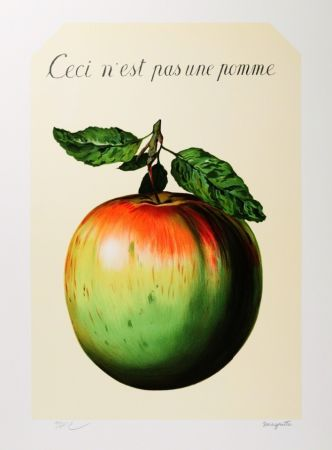 Lithographie Magritte - Ceci n'est pas une pomme
