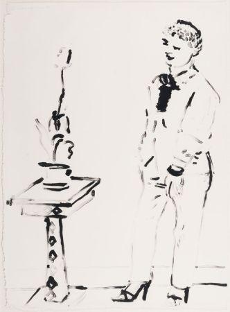 Lithographie Hockney -  Celia Amused
