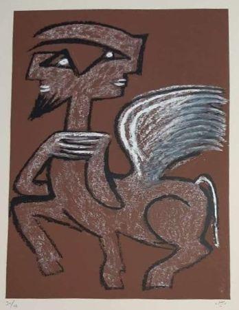 Siebdruck Matta - Centaur Hemaphrodite