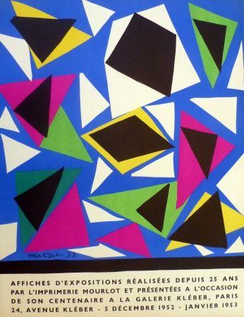 Lithographie Matisse - Centenaire de l'imprimerie Mourlot, exposition galerie Kléber 1953