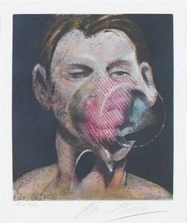 Radierung Und Aquatinta Bacon - Central panel  from 3 studies for a portrait of Peter Beard I