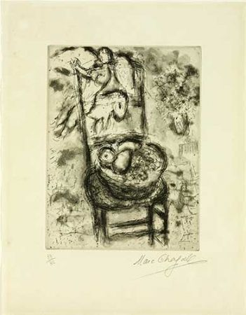Stich Chagall - Chaise à la corbeille de fruits