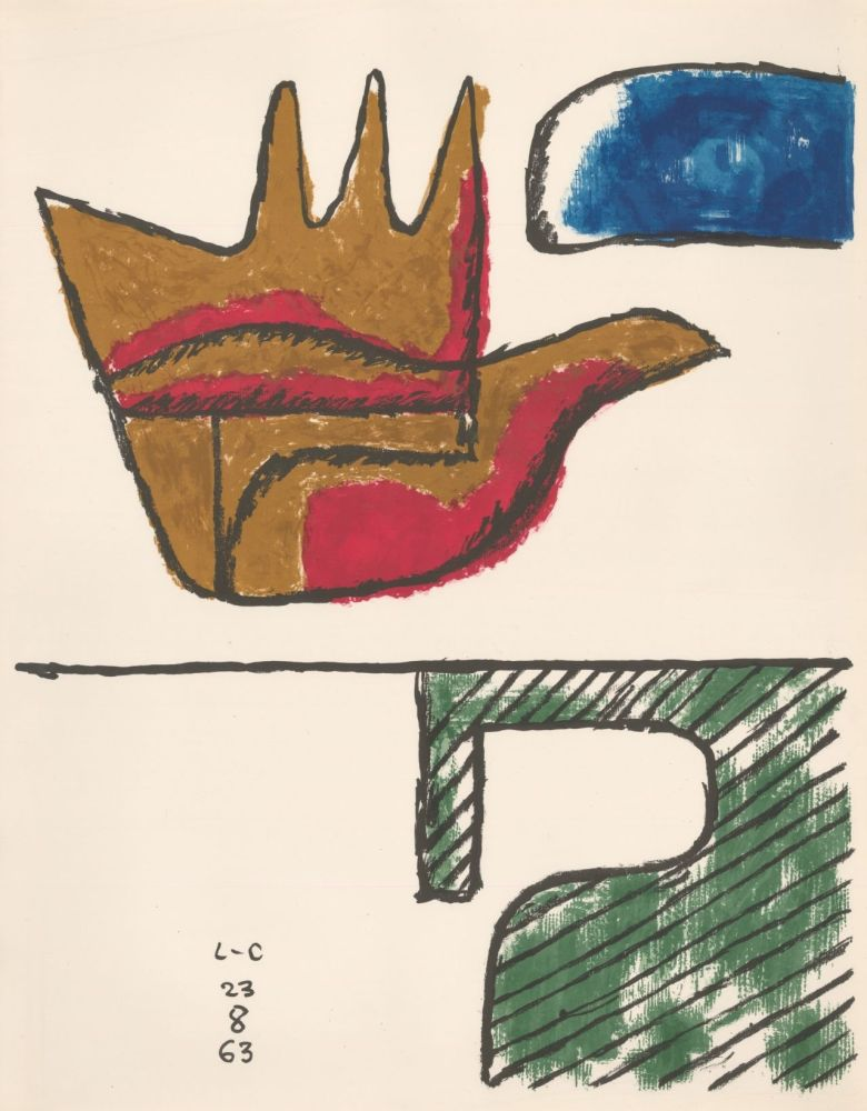 Lithographie Le Corbusier - Chandigarh Open Hand