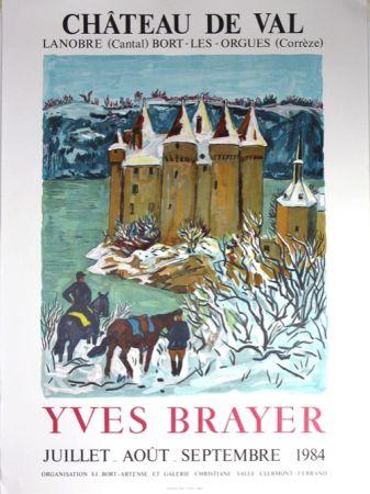 Lithographie Brayer - Chateau de Val