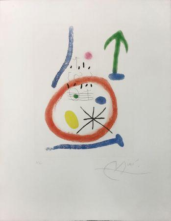 Radierung Und Aquatinta Miró - CHEMIN DE RONDE III