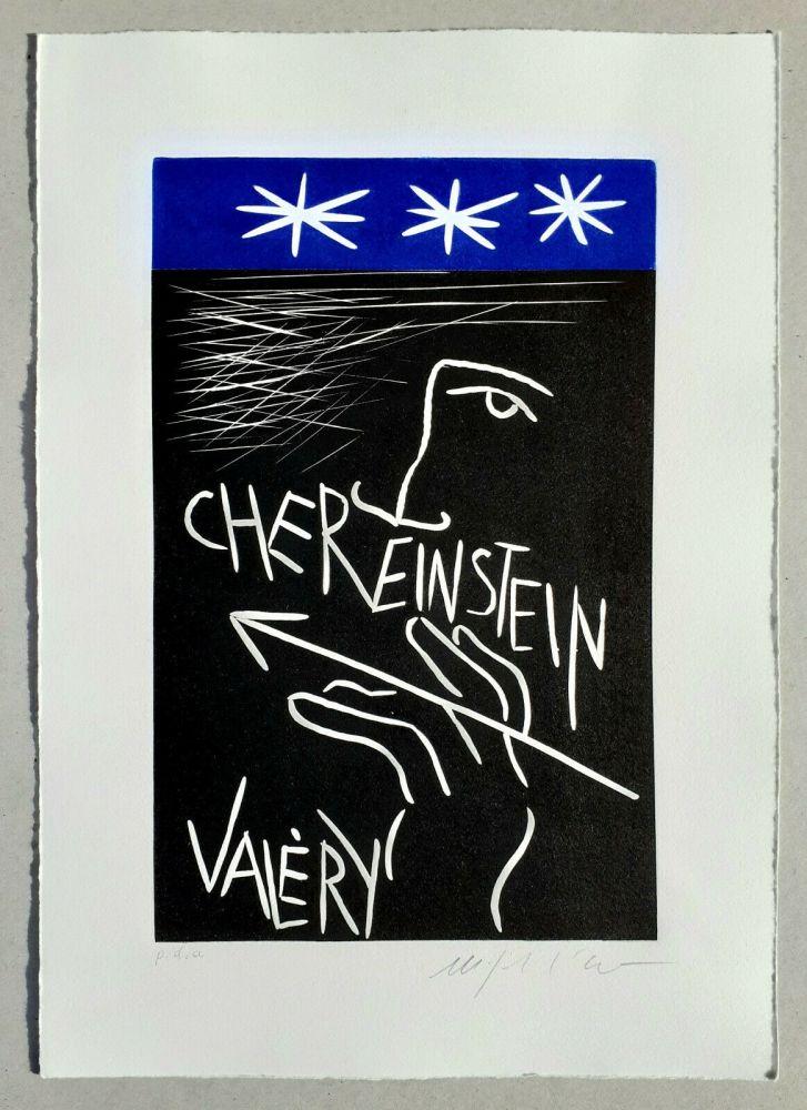 Linolschnitt Paladino - Cher monsieur Einstein