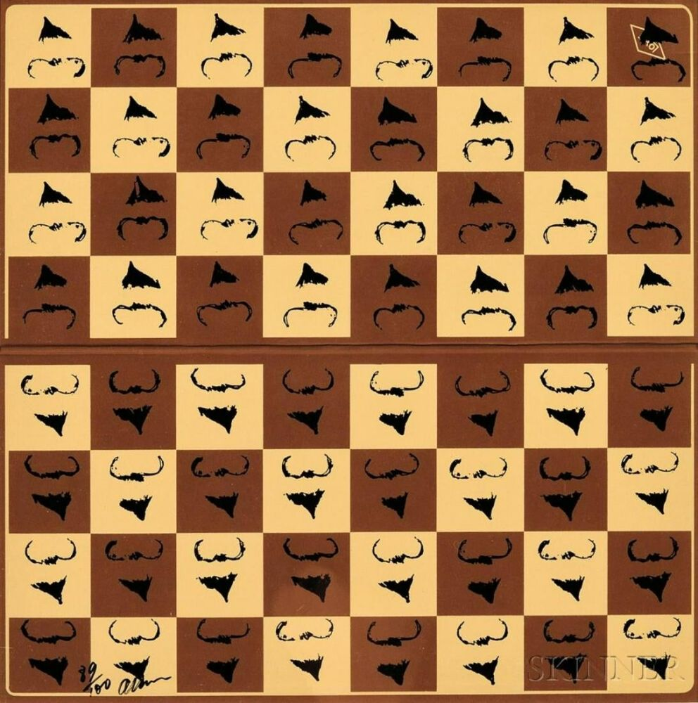 Siebdruck Arman - Chessboard in Hommage to Marcel Duchamp's L.H.O.O.Q.
