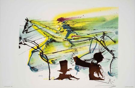 Lithographie Dali - Cheval De Course