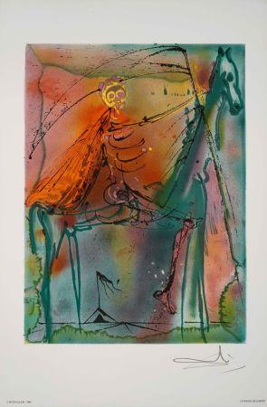 Lithographie Dali - Cheval De La Mort