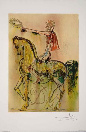 Lithographie Dali - Chevalier Romain