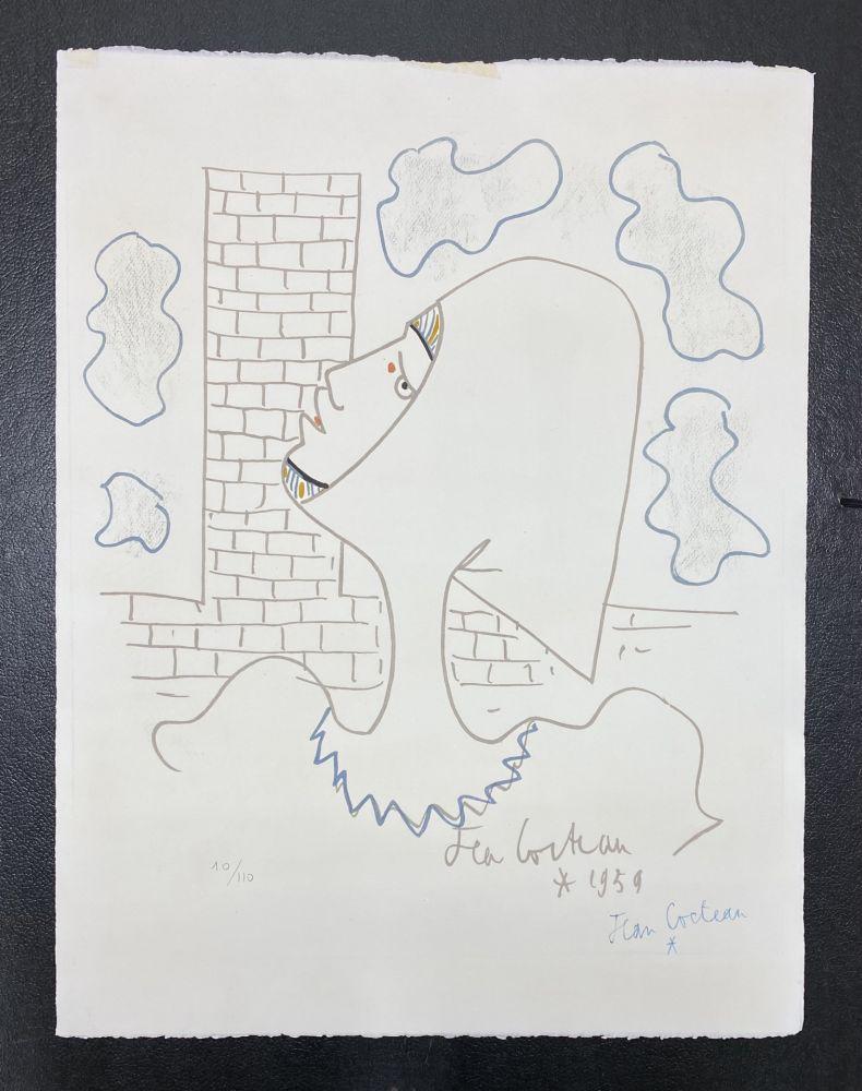 Lithographie Cocteau - Chevaliers de la table ronde