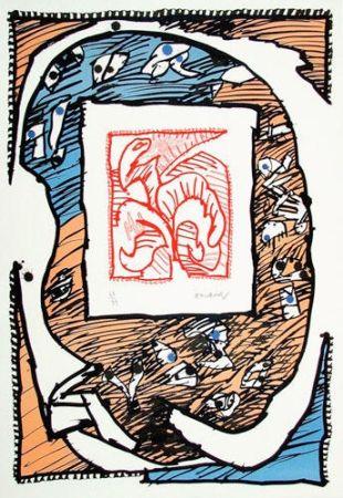 Lithographie Alechinsky - Chicago