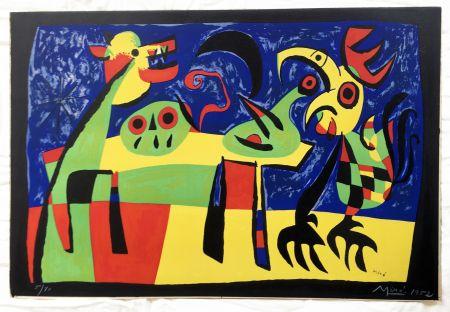 Lithographie Miró - Chien aboyant à la Lune (1952)