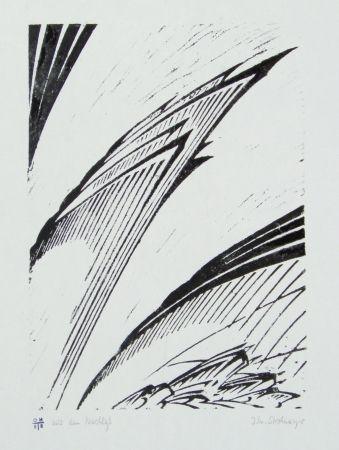Linolschnitt Strohmeyer - Chilehaus (