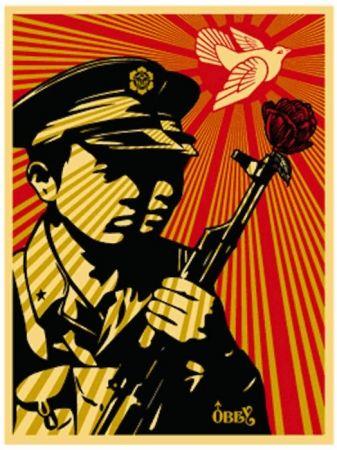 Siebdruck Fairey - Chinese Soldiers