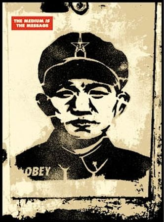 Siebdruck Fairey - Chinese Stencil