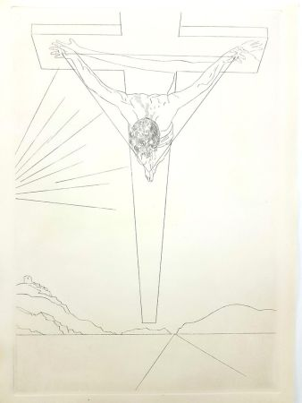 Lithographie Dali - Christ of St John of the Cross