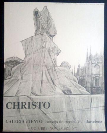 Plakat Christo - Christo - Galeria Ciento 1975