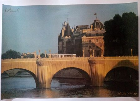 Plakat Christo - Christo's Wrapped Pont Neuf Paris - Handsigned