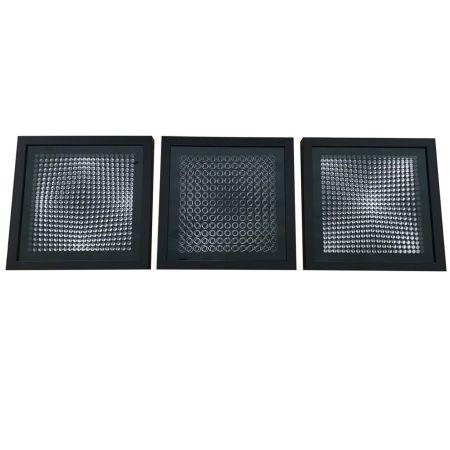 Keine Technische Vasarely - Cinétiques VI Black 3 works
