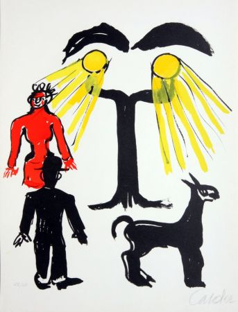 Lithographie Calder - Cinema / Hommage a Man Ray