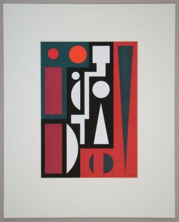 Siebdruck Herbin - Cinq, 1954