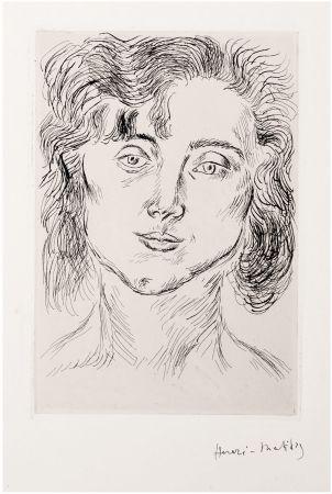 Radierung Matisse - CINQUANTE DESSINS. GRAVURE ORIGINALE SIGNÉE : La fille de l'artiste (1920).