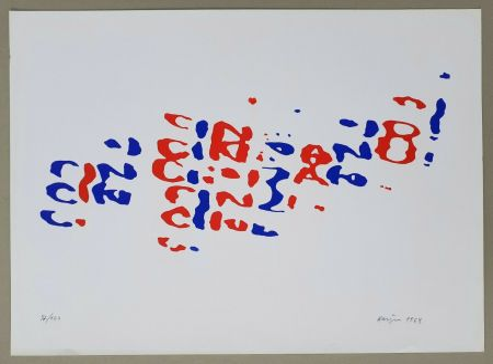 Lithographie Hains - Cinzano