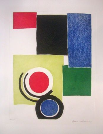 Stich Delaunay - Circle Composition
