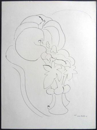Lithographie Matisse - Citrouille et Fleurs