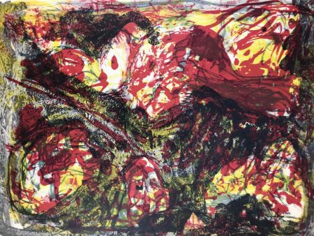 Lithographie Jorn - CLAIR-OBSCUR