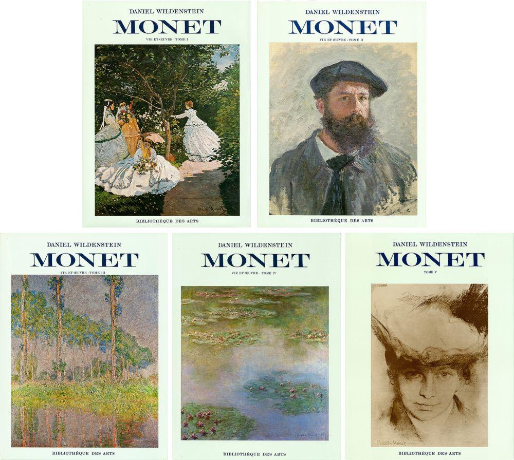Illustriertes Buch Monet - CLAUDE MONET. CATALOGUE RAISONNÉ (Peintures, pastels et dessins). 5 volumes. 1974-1991