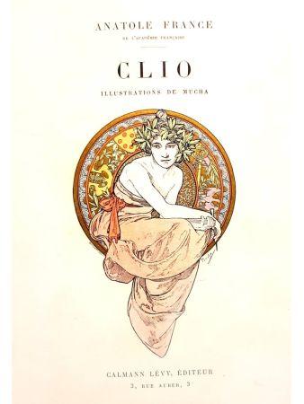 Lithographie Mucha - Clio
