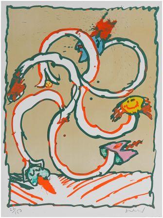 Lithographie Alechinsky - Cobroue