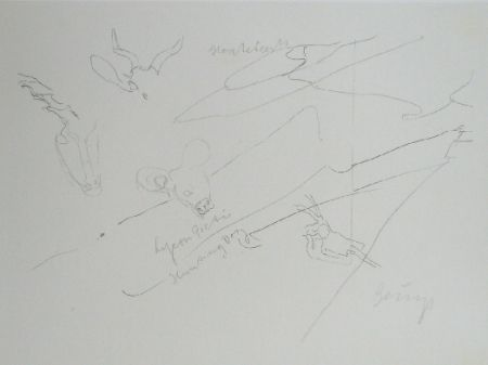 Lithographie Beuys - Codices Madrid 9