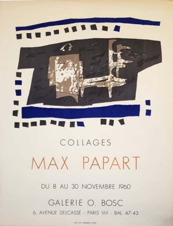 Lithographie Papart - Collages Galerie O  Bosc