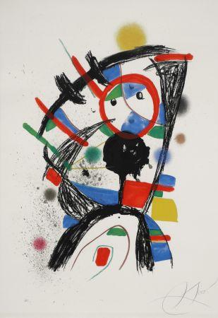 Lithographie Miró - Colombine à la fenêtre