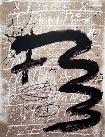 Lithographie Tàpies - Columbus