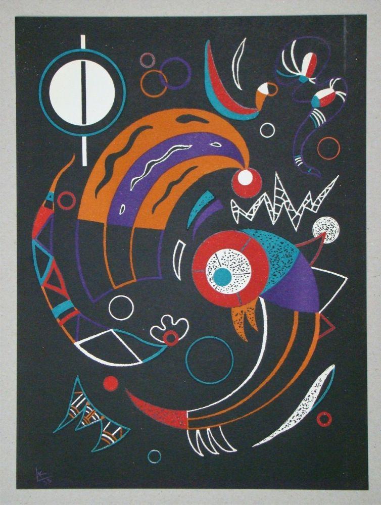 Lithographie Kandinsky - Comètes