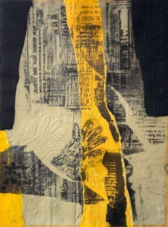 Radierung Clavé - Composición con Amarillo