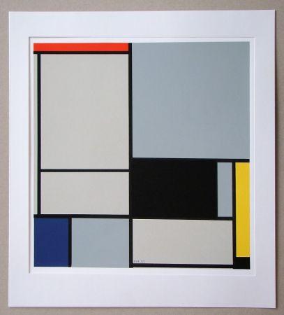 Siebdruck Mondrian - Compositie - 1921