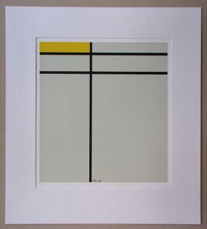 Siebdruck Mondrian - Compositie met geel - 1935