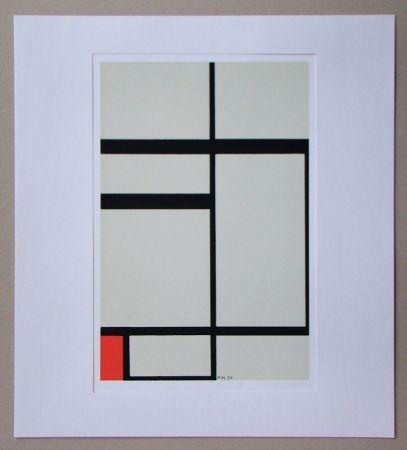 Siebdruck Mondrian - Compositie met rood - 1931