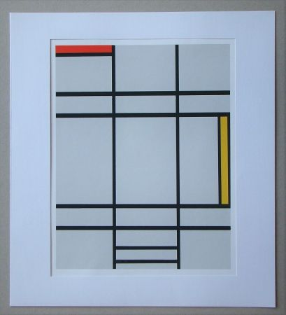 Siebdruck Mondrian - Compositie met rood en geel - 1935