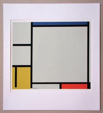 Siebdruck Mondrian - Compositie met rood, geel en blauw - 1922