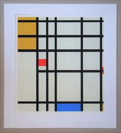 Siebdruck Mondrian - Compositie met rood, geel en blauw - 1936/43