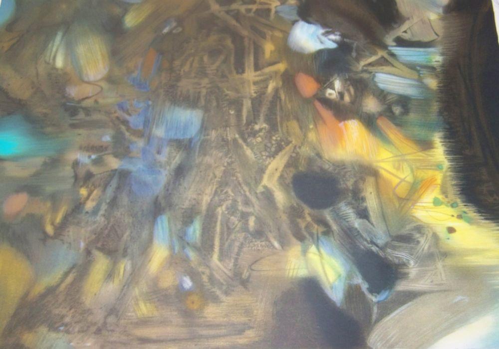 Lithographie Chu Teh Chun  - Composition
